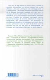 Economie Et Politique Du Tourisme International (2e Edition) - 4ème de couverture - Format classique