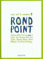 Revue rond point t.5 - Couverture - Format classique