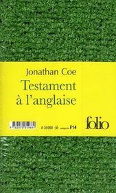 Testament à l'anglaise - 4ème de couverture - Format classique