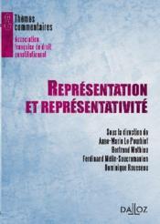 Représentation et représentativité - Couverture - Format classique