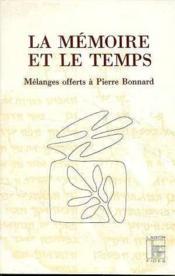 La memoire et le temps - Couverture - Format classique