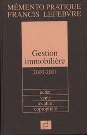 Gestion immobiliere 2000-2001; achat vente location copropriete - Intérieur - Format classique