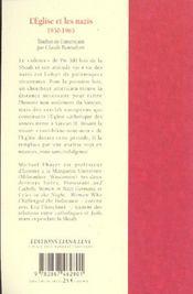 L'Eglise et les nazis - 4ème de couverture - Format classique