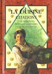 Cuisine - citations - Intérieur - Format classique