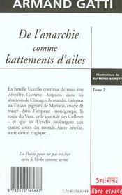 De L'Anarchie Comme Battement D'Aile T.2 - 4ème de couverture - Format classique