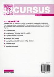 La tragédie (2e édition) - 4ème de couverture - Format classique