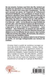 Fils de Cocteau (Raymond Radiguet, Jean Marais, Edouard Dermit et les autres) - 4ème de couverture - Format classique