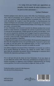 Journal d'un gardien du goulag - 4ème de couverture - Format classique
