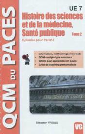 Qcm Paces Histoire Des Sciences Et De La Medecine, Sante Publique Paris 13 - Couverture - Format classique