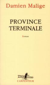 Province terminale - Couverture - Format classique