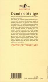Province terminale - 4ème de couverture - Format classique