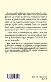 La poésie estonienne et Baudelaire - 4ème de couverture - Format classique