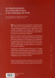 Representations de la nouvelle france et de lamerique du nord - 4ème de couverture - Format classique