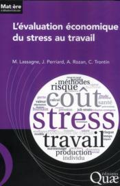 L'évaluation économique du stress au travail - Couverture - Format classique