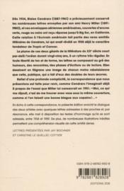 Correspondance 1934-1959 ; je travaille à pic pour descendre en profondeur - 4ème de couverture - Format classique