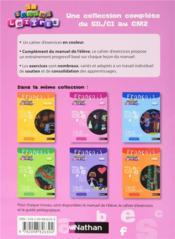 EN TOUTES LETTRES ; français ; CP ; cahier d'exercices - 4ème de couverture - Format classique
