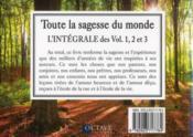 Toute la sagesse du monde... de 5 à 95 ans ; t.1, 2 et 3 ; intégrale - 4ème de couverture - Format classique