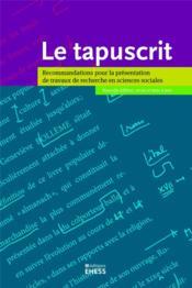 Le tapuscrit - Couverture - Format classique