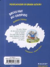 Bruce fait du camping - 4ème de couverture - Format classique