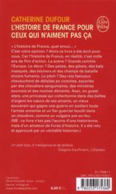 L'histoire de France pour ceux qui n'aiment pas ça - 4ème de couverture - Format classique