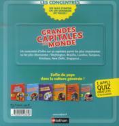 Grandes capitales du monde - 4ème de couverture - Format classique