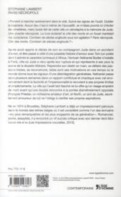 Paris nécropole - 4ème de couverture - Format classique
