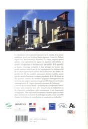 Vocabulaire de la spatialité japonaise - 4ème de couverture - Format classique