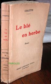 Le Blé en herbe. - Couverture - Format classique