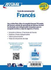 GUIDES DE CONVERSATION ; francés - 4ème de couverture - Format classique