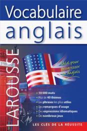 Vocabulaire anglais - Couverture - Format classique
