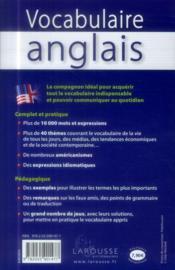 Vocabulaire anglais - 4ème de couverture - Format classique
