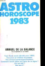 Astro Horocope 1983 - Annuel De La Balance - Couverture - Format classique