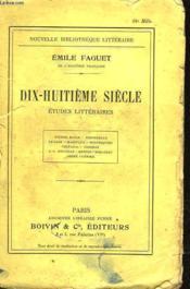 Dix-Huitieme Siecle - Etudes Litteraires - Couverture - Format classique