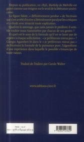 Bartleby ou la création - 4ème de couverture - Format classique