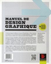 Manuel de design graphique ; connaître les règles du graphisme et l'art de les détourner - 4ème de couverture - Format classique