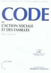 Code de l'action sociale et des familles - Intérieur - Format classique