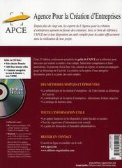 Créer ou reprendre une entreprise - 4ème de couverture - Format classique