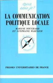 La communication politique locale qsj 3039 - Intérieur - Format classique