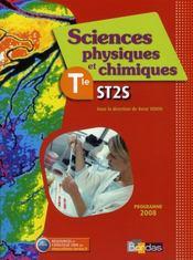 Physique-chimie ; terminale ST2S ; manuel (édition 2008) - Intérieur - Format classique