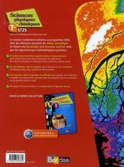 Physique-chimie ; terminale ST2S ; manuel (édition 2008) - 4ème de couverture - Format classique