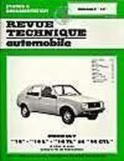Rta 368.5 renault 14 l - tl et gtl (1976/1983) - Couverture - Format classique