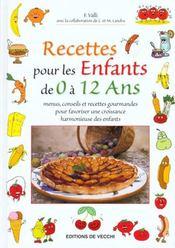 Grand Livre Des Recettes Pour Les Enfants De 0 A 12 Ans - Intérieur - Format classique