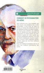 Comment se psychanalyser soi-même - 4ème de couverture - Format classique