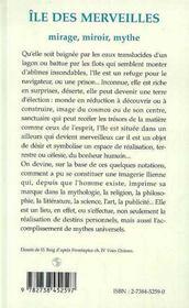 Île des merveilles ; mirage, miroir, mythe - 4ème de couverture - Format classique
