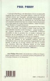 Paul Paray - 4ème de couverture - Format classique