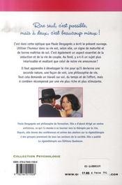 Rire amoureusement ; la rigolothérapie - 4ème de couverture - Format classique