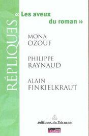 Les aveux du roman - Intérieur - Format classique