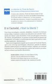 Et Si L'Autorite, C'Etait La Liberte ? - 4ème de couverture - Format classique