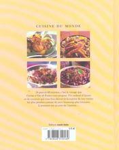 Cuisine Du Monde ; 60 Recettes En Plats Uniques - 4ème de couverture - Format classique