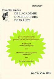 Espace rural agricole ; mobilite des microorganismes dans les sols ; la betterave sucriere t.79 ; aaf n.6 - Couverture - Format classique